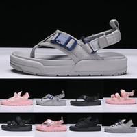 ingrosso pantofole grigio-Moda grigio nero rosa sandali sandali di gomma estivi scarpe scivolo da spiaggia pantofole da donna indoor pantofole da uomo scarpe firmate taglia 36-44