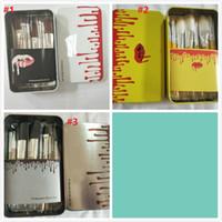 Wholesale iron box brush online - 2019 HOT KY Makeup Brush pieces Professional Makeup Brush set Kit Iron box styles in stock