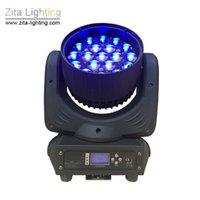 efeitos de zoom venda por atacado-Zita Iluminação LEVOU 19X12 W Zoom Moving Head Luzes de Iluminação de Palco Lavagem Na Parede DMX DJ Discoteca Clube Luz Show de Festa Efeito