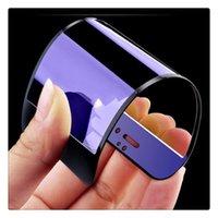 voller blauer film großhandel-Full Coverage 3D Blue Ray Hartglas Displayschutzfolie für iphone 6 6s 7 Plus Qualität
