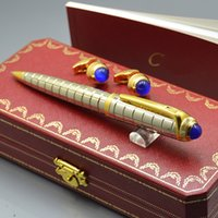 Wholesale linking pens for sale - Group buy Top Luxury Birthday Gift Carties Branding Writing Ballpoint pen French Man Cufflinks For Jewelry Cuff links with Original Box Packaging