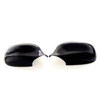 боковые зеркала оптовых-1 пара реальные углеродного волокна заднего вида боковое зеркало крышка крышки для BMW 3 серии E90 E91 2010-2012 углеродного волокна боковое зеркало крышка