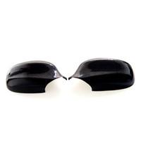 ingrosso tappi a specchio laterale-1 paio di copri specchietto retrovisore specchietti laterali in fibra di carbonio per BMW Serie 3 E90 E91 2010-2012 copri specchio laterale in fibra di carbonio