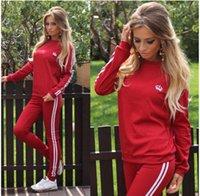 bayanlar hoodies terlemeleri toptan satış-Kadınlar 2 Adet Eşofman Hoodies Sweatshirt Pantolon Setleri Bayanlar Spor Giyim Rahat Takım Elbise Koşu Ter Suit LJJP30