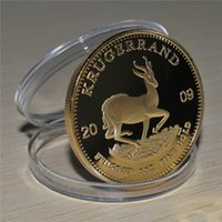Free Shipping 2pcs lot,South Africa 2009 1 Oz Gold Krugerrand Proof Coin Ultra Cameo Scarce