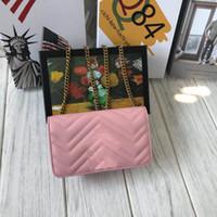 ingrosso catene di borse trapuntate-Borse a tracolla del progettista delle donne Love Heart Bag Mini catena Flap Crossbody borse di alta qualità vera pelle trapuntata borsa Freeshipping 18 cm