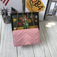 gesteppte designerhandtaschen großhandel-Frauen-Entwerfer-Schulter-Beutel-Liebes-Herz-Beutel-Miniketten-Klappen-Crossbody-Handtaschen-Qualitäts-echtes Leder gesteppte Handtasche Freeshipping 18cm