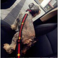 bordado cão venda por atacado-Bordado Animal Collar Flashers Gola de Segurança Pet Leashes Moda Teddy Schnauzer Cinta Ajustável Colete Gola Cintos de Segurança Do Carro