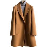 koreanische qualität großhandel-Japans Hochwertige doppelseitige Mantel Korean Womens Long Section 2019 Neue Damen Lose Lose Kaschmir Mantel Frauen S-XL