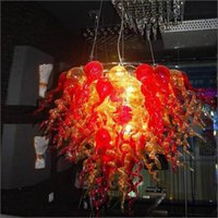 Wholesale ceiling decors resale online - New Arrival Valentines Chandelier Romantic Murano Glass Ceiling Decor Spanish Multicolor Lamps Hand Blown Glass Chihuly Chandeliers
