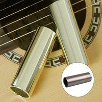comprimento da guitarra venda por atacado-1pcs guitarra inoxidável Slider Bakelite guitarra dedo da luva guitarra Acessórios Comprimento 28 51 60 70 milímetros