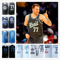 Wholesale ship jersey real madrid resale online - 2019 rising star Doncic Stitched jerseys Sport Jersey SHIRTS Luka Real madrid hot sale cheap star