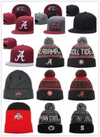 ingrosso ncaa caps hats-NCAA Alabama Crimson Tide Snapback Caps Grey Red Ohio State Buckeyes Cappello di lana Penn State Nittany Lions beanies Caps Un formato misura tutti