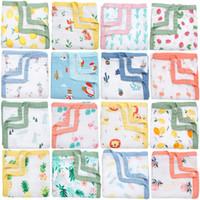 Wholesale child diapers resale online - Baby Blankets Newborn Bamboo Cotton Muslin Swaddle Wrap Muslin Diaper Baby Bedding Set Children Bath Towel Layers Gauze