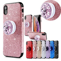 Wholesale apple diamond sticker resale online - Luxury Glitter Sparkle Sticker Thin Shockproof Hybrid diamond Holder Soft TPU Matte Phone Case Cover For Apple iPhone Plus X XS Max XR