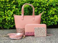 ingrosso piccole borse mini-marca glitter piccola crossbody + portafogli + porta carte di credito glitter famiglia grande piccola mini porta borsette a tracolla di design 5 colori