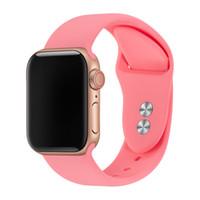 bandas de pulsera de goma de silicona al por mayor-Pulsera para Apple Watch Band 38mm 40mm 42mm 44mm Doble hebilla de caucho de silicona IWatch Correa para Apple Watch Strap Series 4,3,2,1 81024