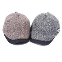 ingrosso lana a maglia britannica-Berretto da uomo in lana da uomo e donna Beret autunno e inverno all'ingrosso 2017 nuovo berretto da maglia vintage inglese