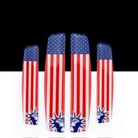autotüren streifen großhandel-Auto Aufkleber Amerikanische Flagge Auto Klebetür Leitplanke Zierleiste Schutzleiste Kratzschutz Autounfall Geeignet Für Ford EEA139