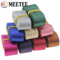 Wholesale car quilts for sale - Meetee mm Thick Nylon Webbing DIY Backpack Straps Car Seat Belt Sewing Accessories Smooth Silk Polyester Lace Webbing