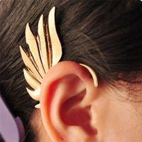 pendientes de ala de hadas al por mayor-Estilo punk cadena de hadas oreja manguito alas pendientes clip para hombre mujer regalo de la joyería