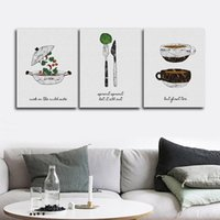 Wholesale decorative paintings for living room for sale - Group buy Restaurant Decoration Wall Pictures Poster Print Canvas Painting Calligraphy Decorative for Living Room Bedroom Home Decor