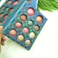 Wholesale baked eyeshadow makeup resale online - New Arrival Star Eye shadow Palette Cosmetic Makeup Palette Colors Baked Eyeshadow Highlighter Palette