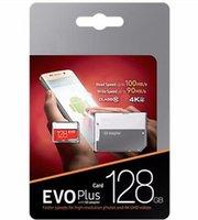 ingrosso venditori al dettaglio-2019 Top Seller Nero EVO + Plus U1 U3 Classe 10 256 GB 32 GB 64 GB 128 GB Card TF Memory Card Pacchetto al dettaglio FedEx Spedizione DHL