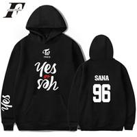 Wholesale korea plus size clothing for sale - bts hoodie TWICE YES OR YES In Men Hoodies Twice Abum Korea Knop Hooded Sweatshirt Men Women Top harajuku Clothing plus size