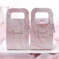 ingrosso tazza di carta di fiori-Marmo grano contenitori di caramella di zucchero Bag Fiore Foglia sacchetti dell'imballaggio bomboniera Moda creativa 0 45nz UU