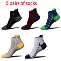 ingrosso calzini da basket scontati-5 paia di nuovi calzini sportivi da esterno calza da corsa antiscivolo elastici uomo ciclismo calcetine sconti basket caldo traspirante