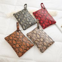 Wholesale wristlet pouch resale online - Female Fashion Square Snake Print Wristlet Clutch Women Casual Purse PU Leather Handbag Money Phone Pouch Wallet torebki damskie