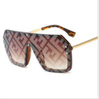 moda óculos grande venda por atacado-FF Mulheres Designer Sunglasses 2019 Moda Verão Carta óculos de sol Marca grande frame óculos de sol B6271 Sunglass Sea Beach Sand-prova