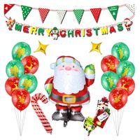 ingrosso allegri palloncini di natale-Merry Christmas Aluminium Balloons 12,25 Day Xmas Balloon Set Decorazione festiva per feste