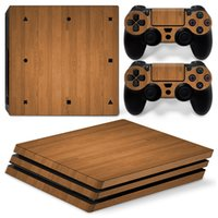 Wholesale ps4 controller decal sticker for sale - Group buy Fanstore Skin Sticker Wood Vinyl Decal for Sony Playstation PS4 Pro Console and Remote Controller New Design