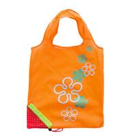 bolsas ecológicas lindas al por mayor-Cute Strawberry Shopping Bags Plegable Tote Eco Almacenamiento reutilizable Bolsa de supermercado Bolsa de asas Reutilizable Eco-Friendly Home Storage Bags 250pcs
