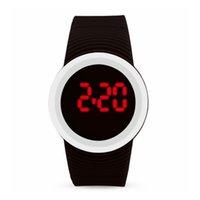 izlemek toptan satış-Moda Kadın Teknolojik Sense LED Dokunmatik Ekran Dijital Saatler Elektronik Ekran Spor Genç Öğrenci Izle