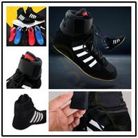 dövüş sanatları ayakkabıları erkekler toptan satış-Erkekler kadınlar profesyonel boks güreş ayakkabı kauçuk taban nefes savaş ayakkabı sneakers Martial arts eğitim ayakkabı