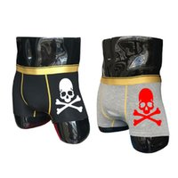 caleçon l taille achat en gros de-crânes de designer pour hommes sous-vêtements boxeurs Short en coton Boxer homme casual