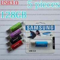 Wholesale usb stick samsung resale online - 16GB GB GB GB GB Samsung OTG usb flash drive USB3 pendrive Real capacity OTG flash Memory stick U disk