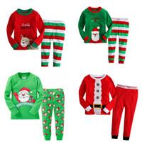 bebek için giyim tasarımları toptan satış-Bebek Noel Temalı Pijama 25 Tasarım Erkekler Kızlar Gecelik Boş Wear Çocuk Tasarımcı Giyim Sonbahar Kış Noel Gecelik Suit 06