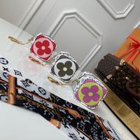 кожаные кубики оптовых-Высочайшее качество лучший куб кошелек для женщин с длинной цепочкой жесткий кожаный кошелек кошелек сцепления кошелек ключ-карта держатель с коробкой мужчины марка натуральная кожа