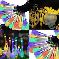 ingrosso nuove luci decorative del festival-LED Solar Energy Lamp String Colorful Outdoor Decorative Light Festival Wedding Celebration Bubble Lights Nuovo arrivo 22 8mt L1