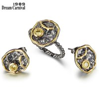 Wholesale new earrings designs for sale - Group buy DreamCarnival1989 New Arrival Geometric Designed Earrings Rings Set For Women Zircon Hot Pick Daily Party Girls Jewelry WE3960S2
