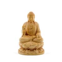 ingrosso statue di legno di buddha-Sitting Thailand budha Sakyamuni scultura Buddha Dharma statua statue di buddha solido legno budas decoracion estatua decorazioni per la casa