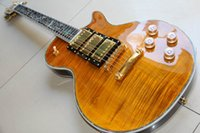 Wholesale hot guitar neck online - Custom factory hot electric guitar brand new custom mahogany body neck abalone inlay combined brown beer burst