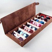 Wholesale grid sunglasses for sale - Group buy High Quality Glasses Case Slot Grid Glasses Sunglasses Glasses Display Rack Holder Organizer Rectangle Box
