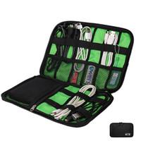 usb sabit disk çantası toptan satış-Kablo Organizatör Çantası Açık Seyahat Elektronik Aksesuarları Çanta Sabit Disk Kulaklık USB Flash Sürücüler Durumda Saklama Torbaları GGA2665