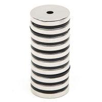 neodim mıknatıslar 5 mm diskler toptan satış-Toptan-10 adet / takım Disk Ile Mini 29.7x4.7mm Delik 5mm N52 Nadir Toprak Güçlü Neodimyum Mıknatıs Toplu Süper Güçlü Yuvarlak Şekil Mıknatıslar
