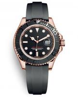 ingrosso orologio mens libero-2019 Mens Watch 40 millimetri di gomma in oro rosa movimento meccanico automatico dell'acciaio inossidabile del Mens guarda l'orologio trasporto libero